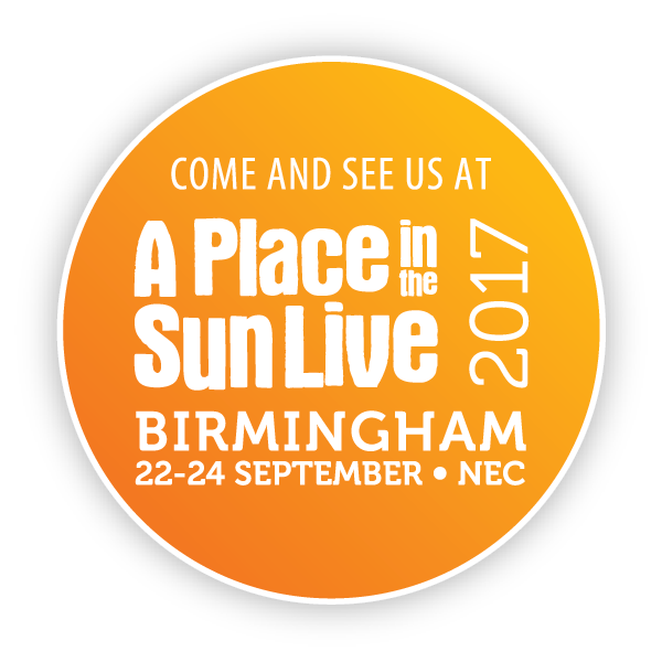Come and see us at A PLACE IN THE SUN LIVE 2017 Birmingham