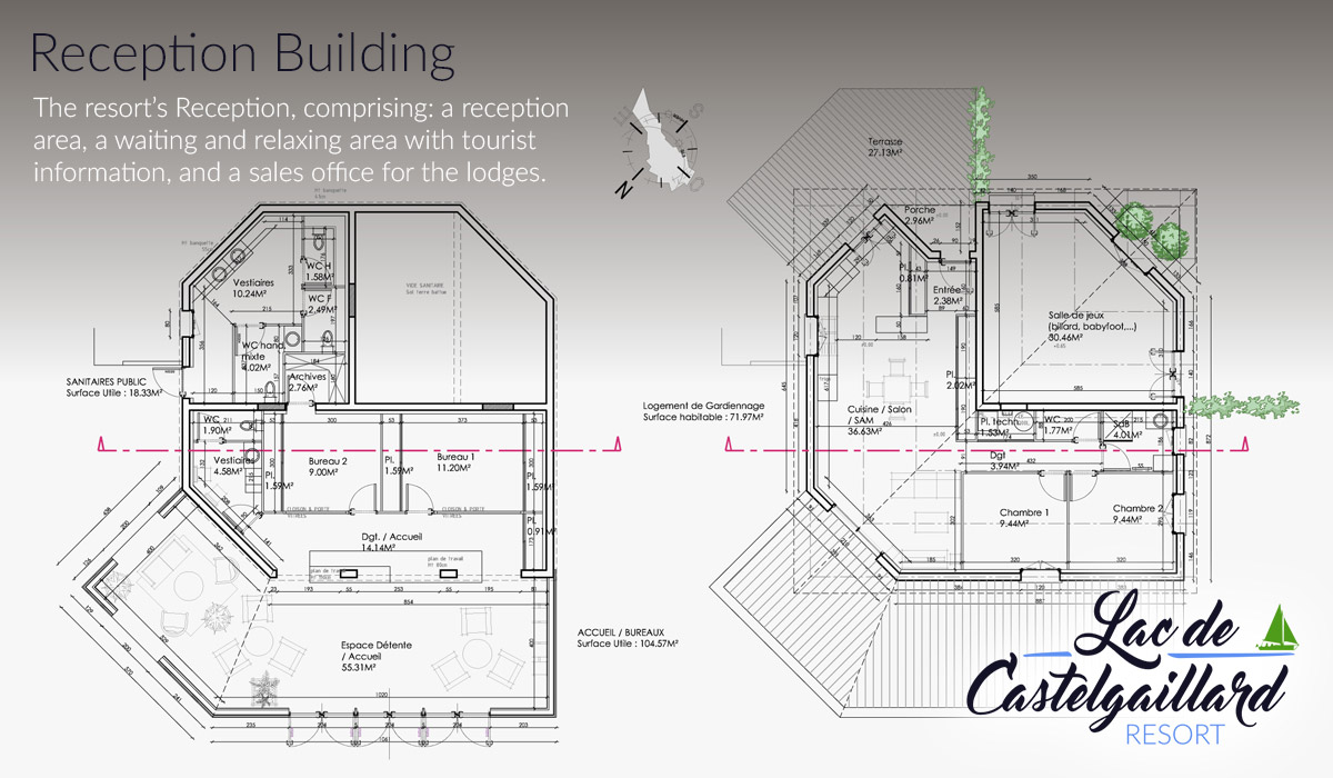 Reception Building - floor plan