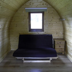 Sleep in style in one of our Glamping Pods